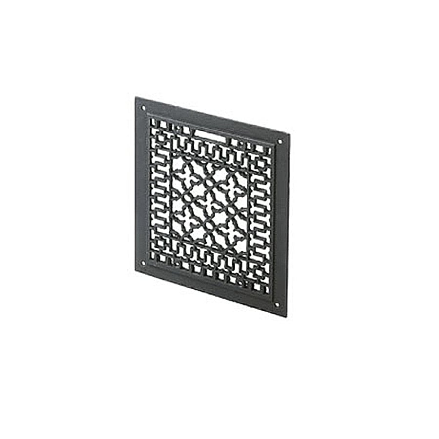shop achla designs 12 in black iron flat fireplace screen at lowes com