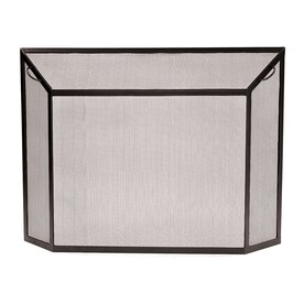 ACHLA Designs 50 In Graphite Iron 1 Panel Flat (No Doors) Fireplace