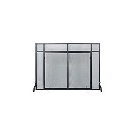 Achla Designs 50 In Black Iron 1 Panel Flat Twin Fireplace Screen