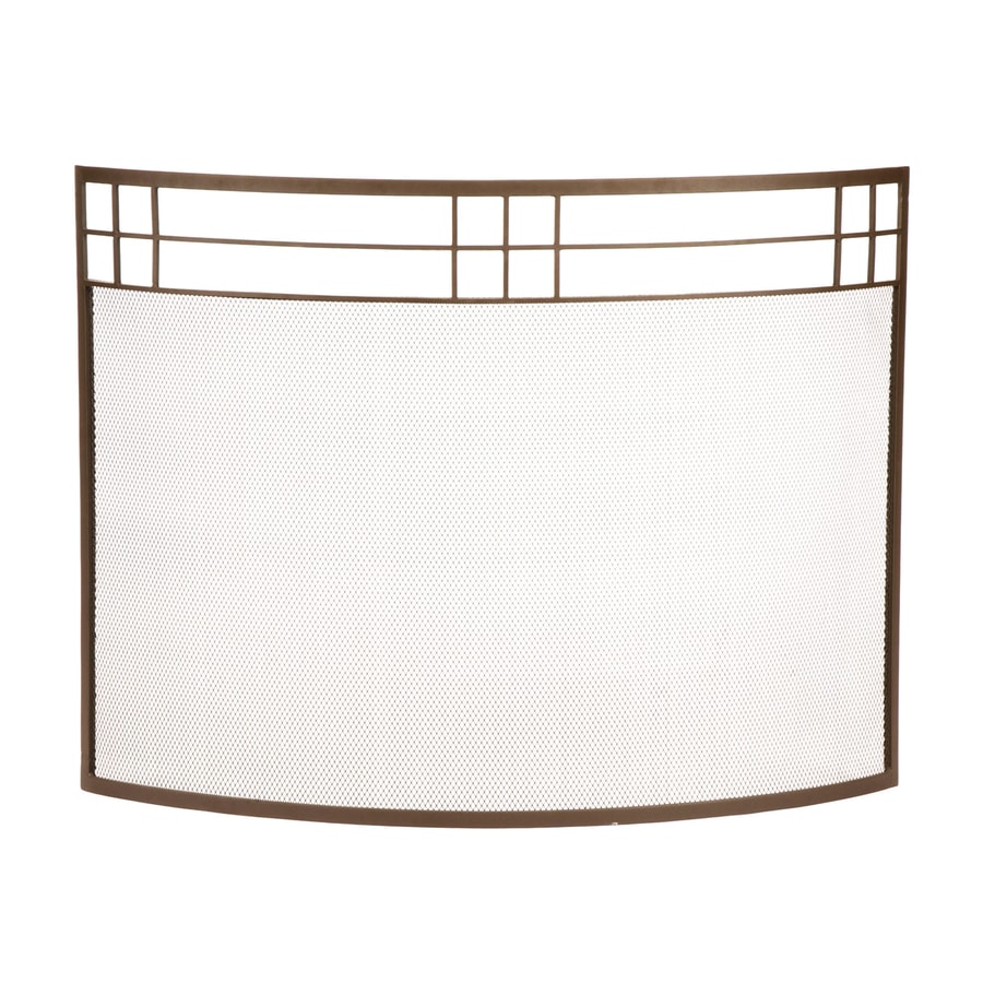 Shop ACHLA Designs 39-in Roman Bronze Iron Flat Fireplace Screen ...