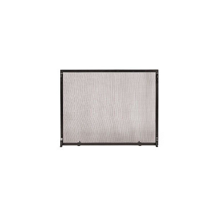 achla designs 44 in graphite iron flat fireplace screen at