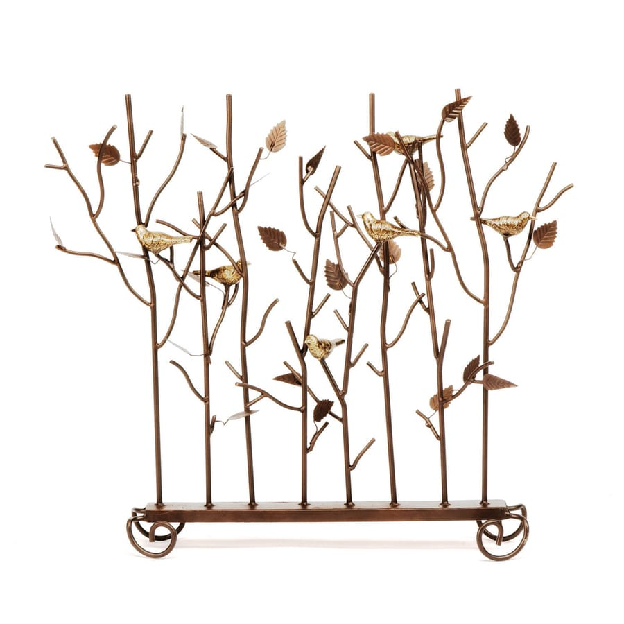 Shop ACHLA Designs 26-in Roman Bronze Iron Fireplace Screen at ...