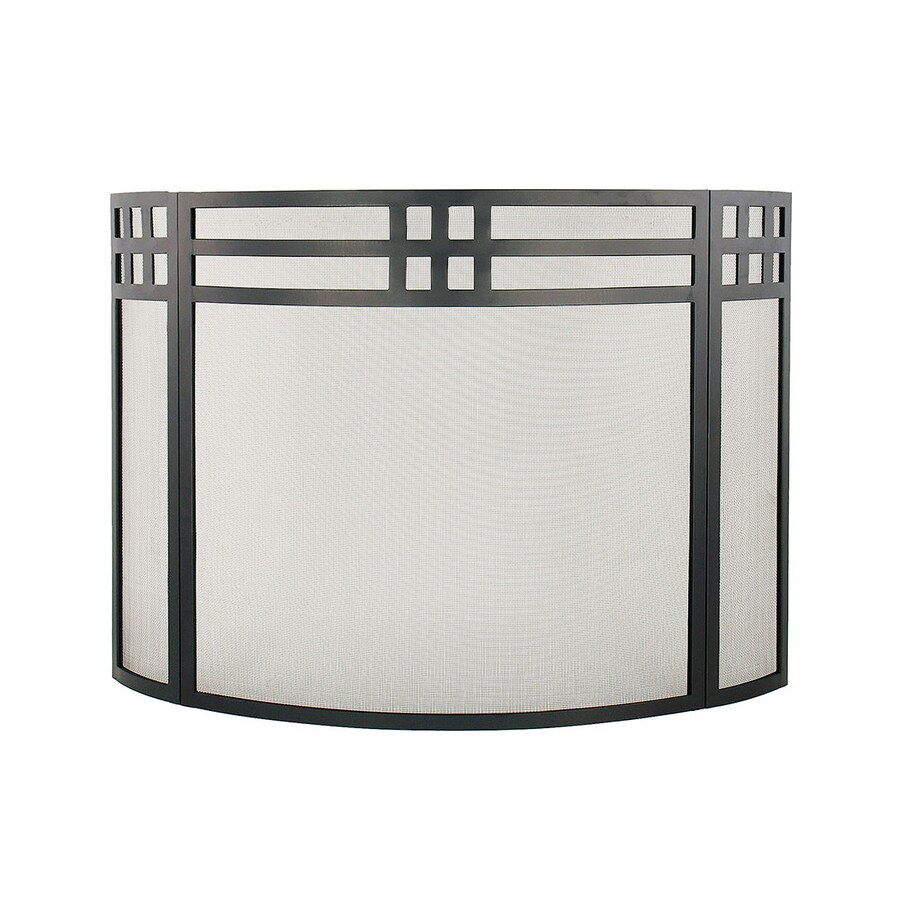 shop achla designs 32 in black iron flat fireplace screen at