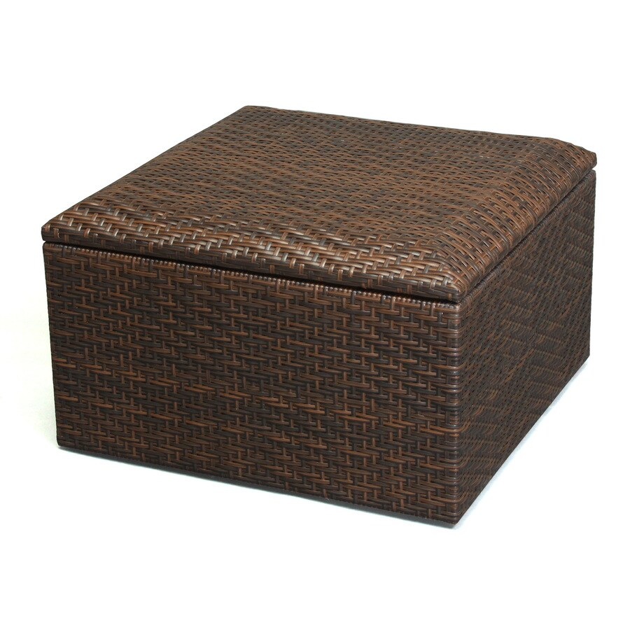 Best Selling Home Decor Richmond Multi-Brown Wicker Ottoman