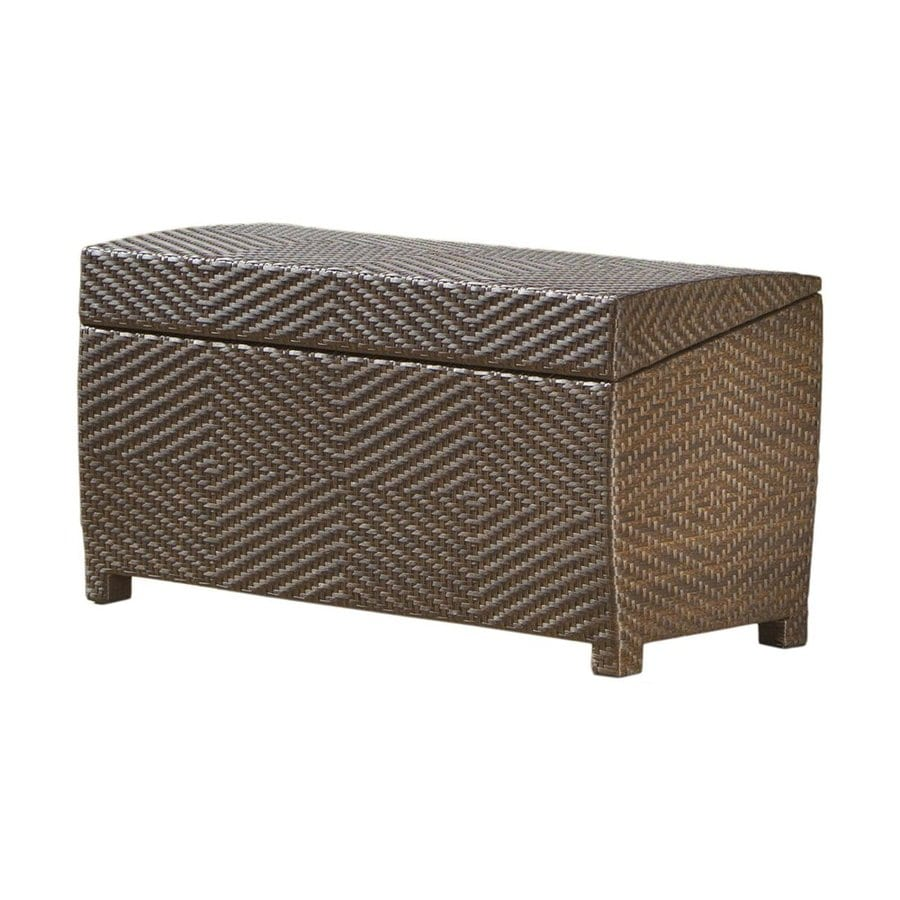 Best Selling Home Decor 51.4-in L x 22-in W 118-Gallon Multi-Brown Wicker Deck Box