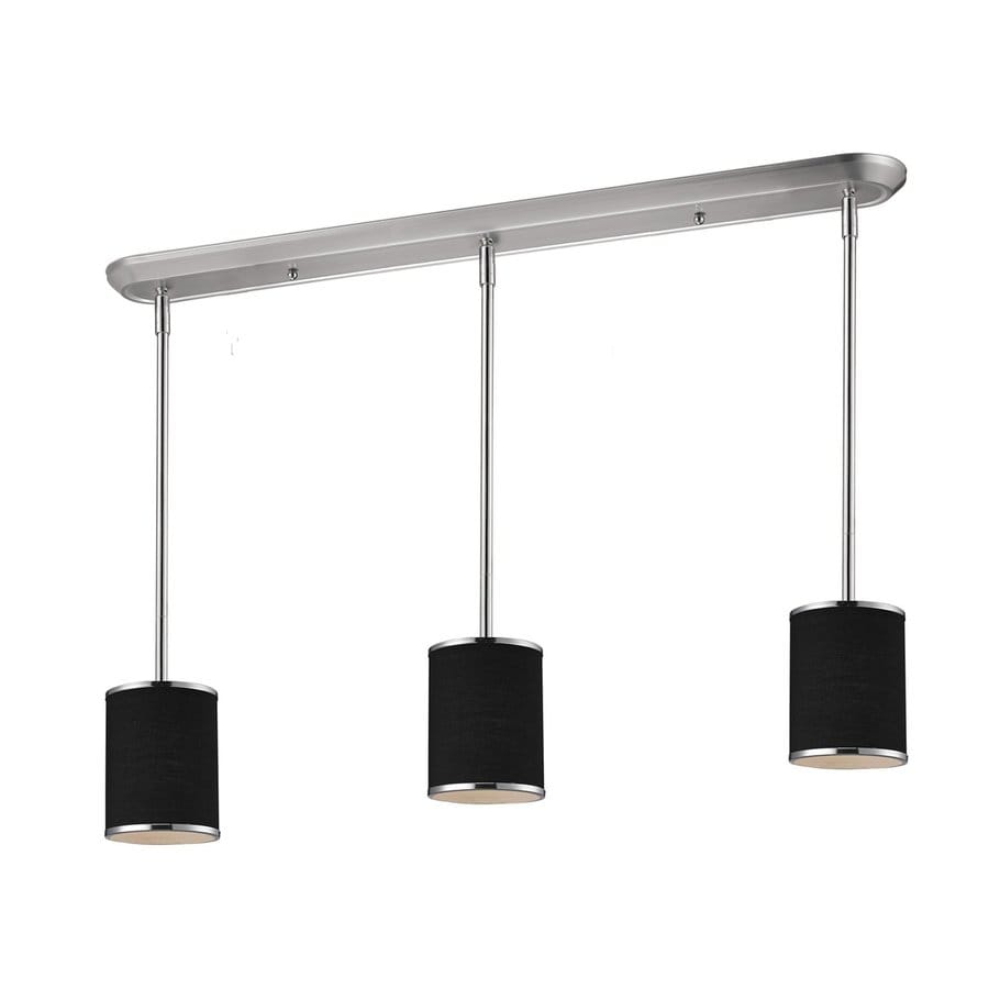 Z-Lite Cameo 6-in W 3-Light Chrome Kitchen Island Light with Shade