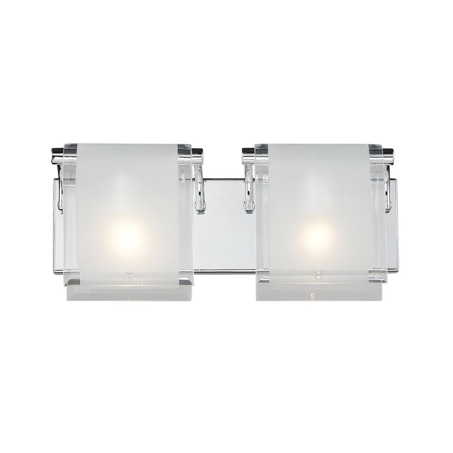 Z-Lite Zephyr 2-Light Chrome Rectangle Vanity Light