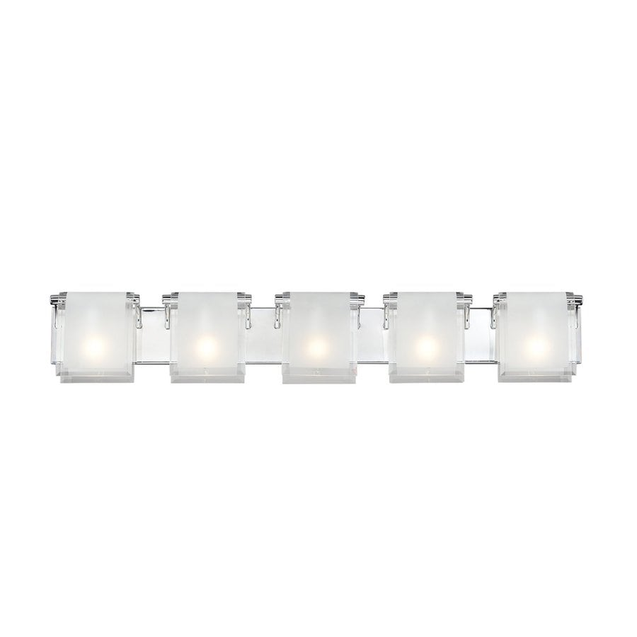 Z-Lite Zephyr 5-Light 7-in Chrome Rectangle Vanity Light