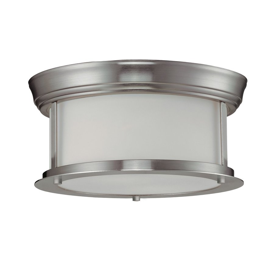 Z-Lite Sonna 10.75-in W Brushed nickel Flush Mount Light