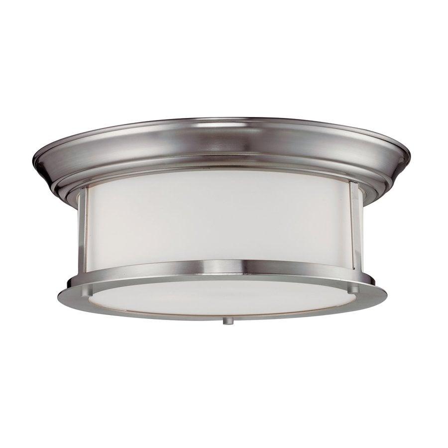 Z-Lite Sonna 13.25-in W Brushed nickel Flush Mount Light