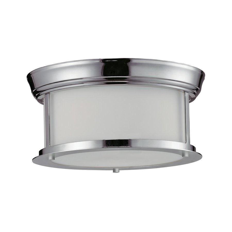 Z-Lite Sonna 10.75-in W Chrome Flush Mount Light