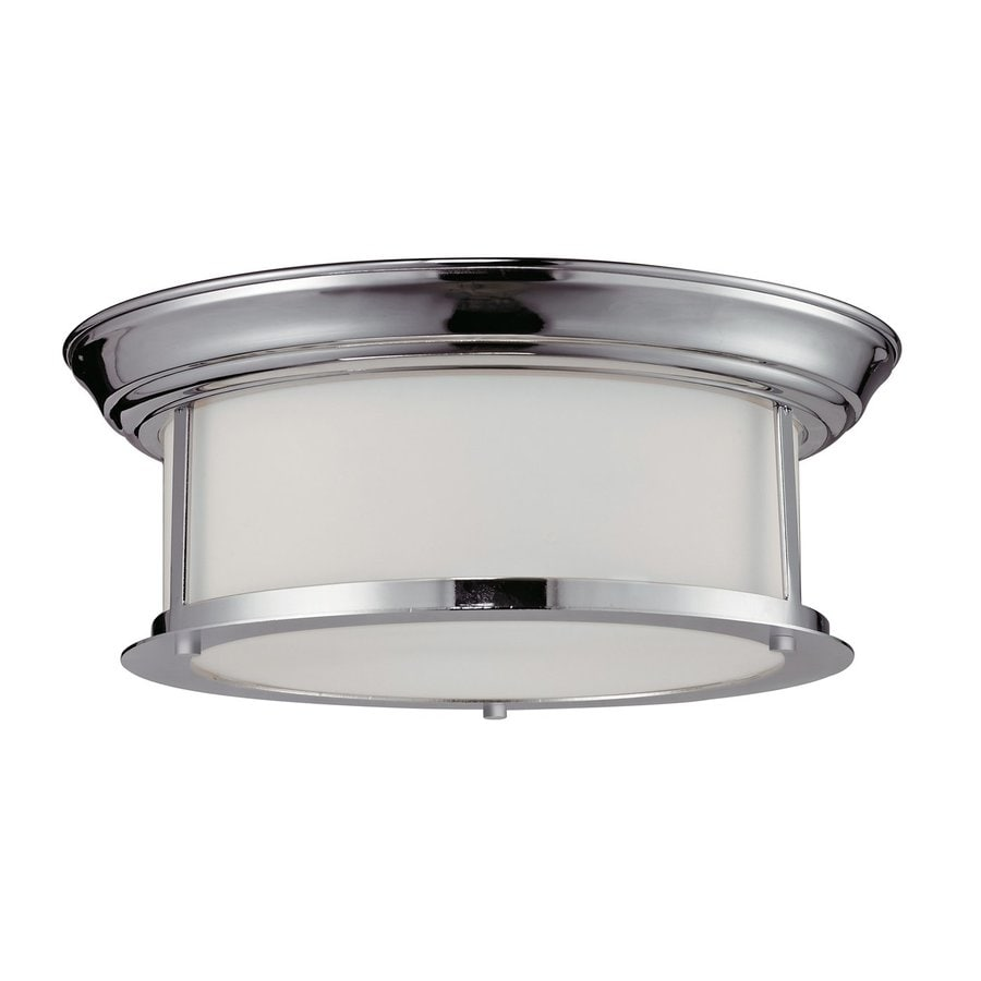 Z-Lite Sonna 13.25-in W Chrome Ceiling Flush Mount Light