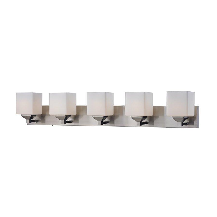 Z-Lite Quube 5-Light 7-in Satin nickel Square Vanity Light
