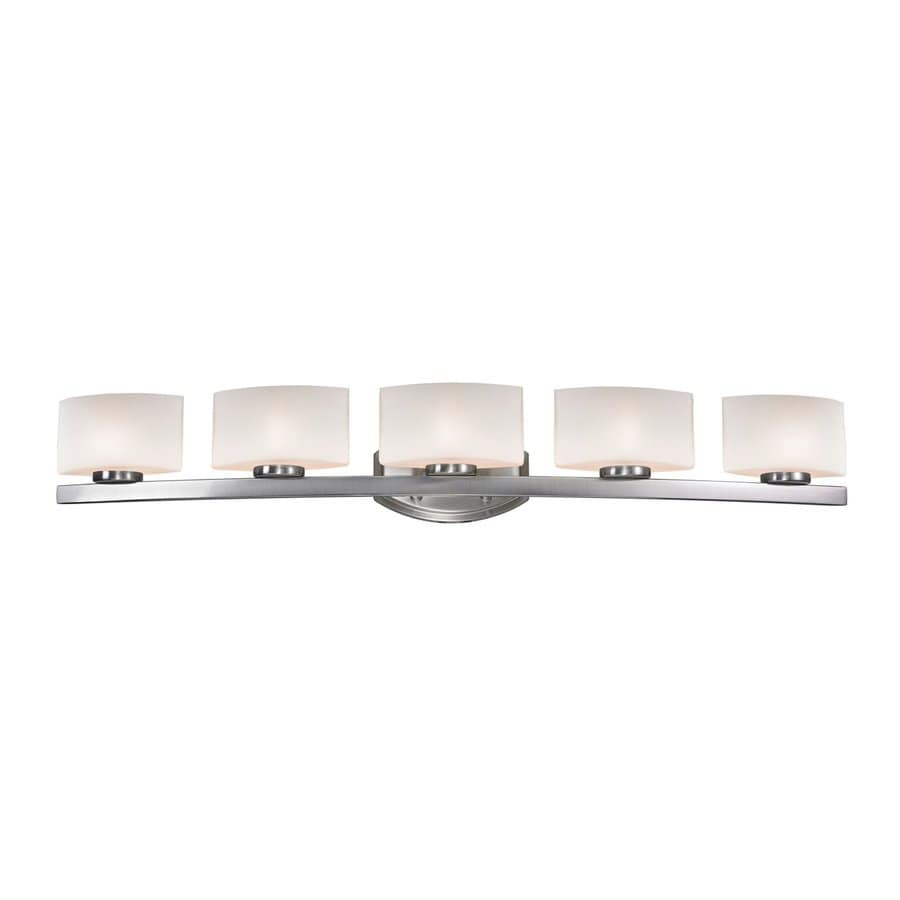 Z-Lite Galati 5-Light Brushed Nickel/Matte Opal Vanity Light