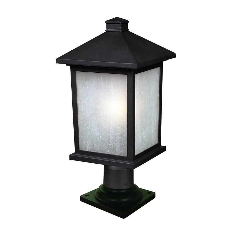 Z-Lite Holbrook 22-in H Black/White Seedy Pier-Mounted Light