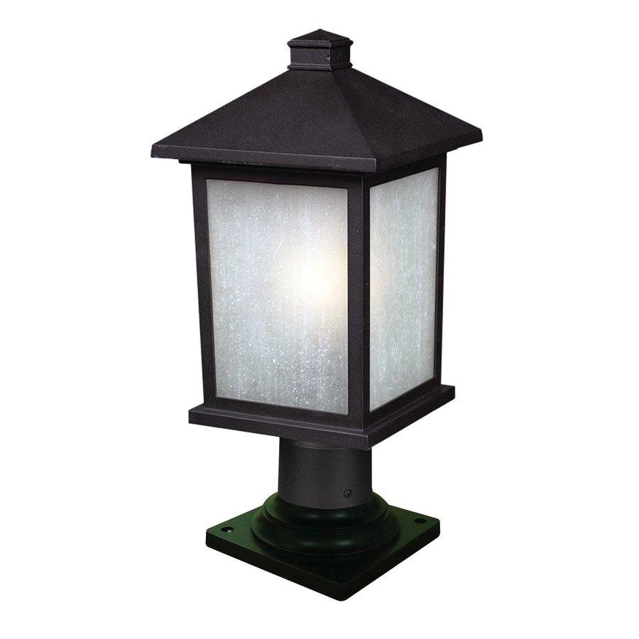 Z-Lite Holbrook 14-in H Black/White Seedy Pier-Mounted Light