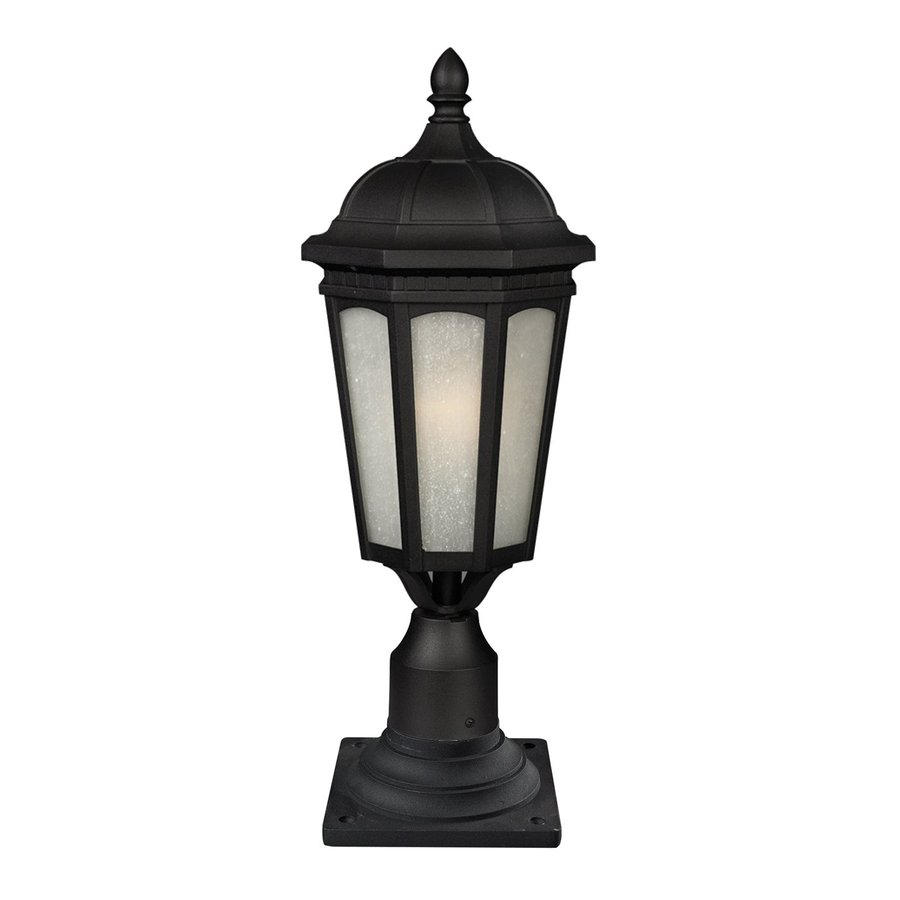 Z-Lite Newport 26-in H Black/White Seedy Pier-Mounted Light