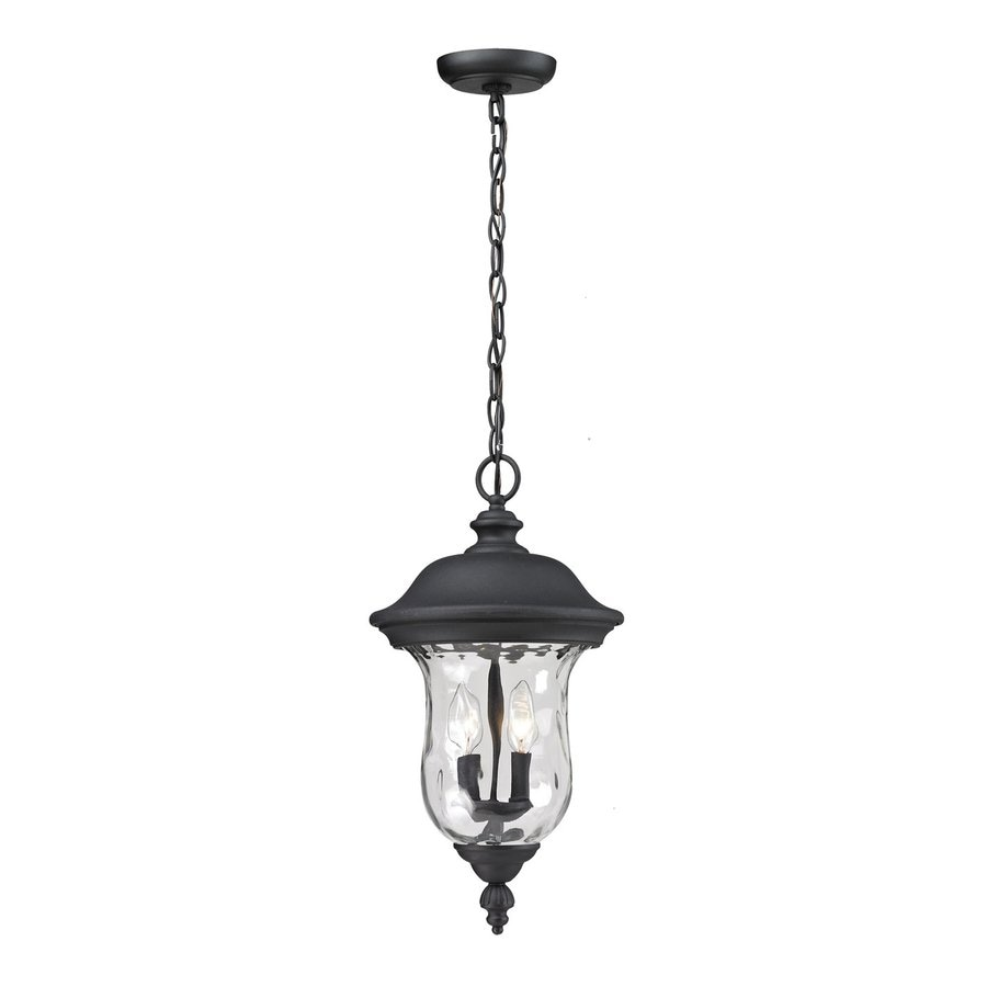 Z-Lite Armstrong 18.818-in Black Outdoor Pendant Light