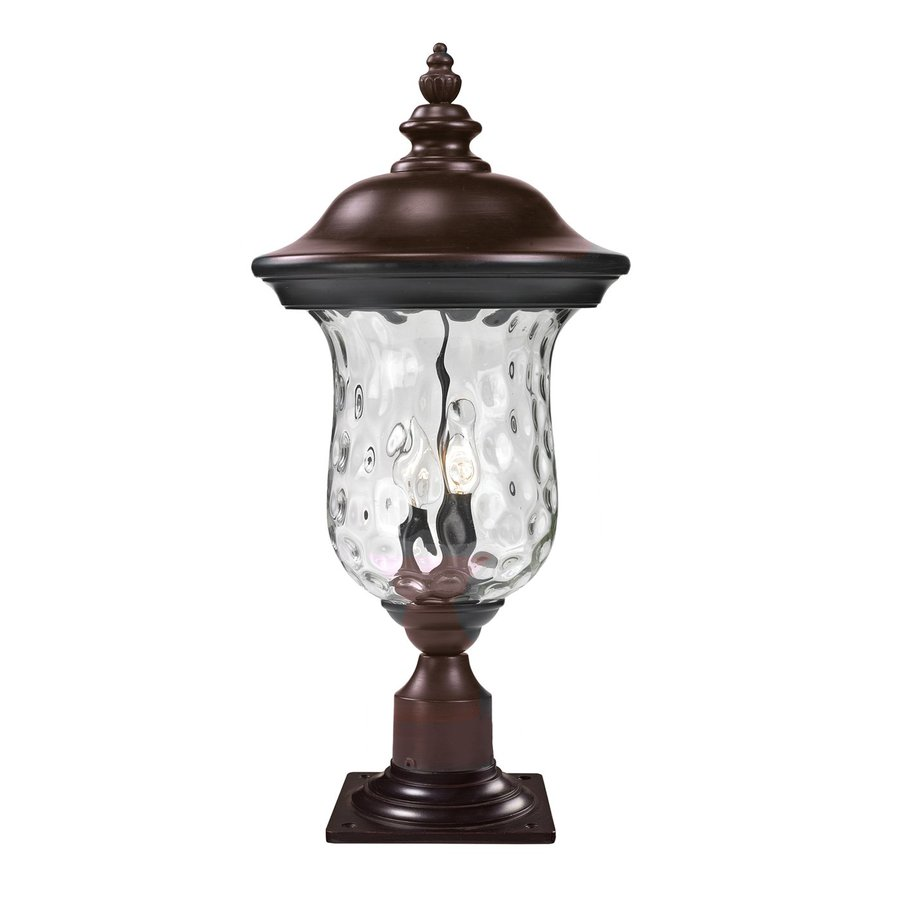 Z-Lite Armstrong 21.25-in H Bronze/Clear Water Glass Pier-Mounted Light