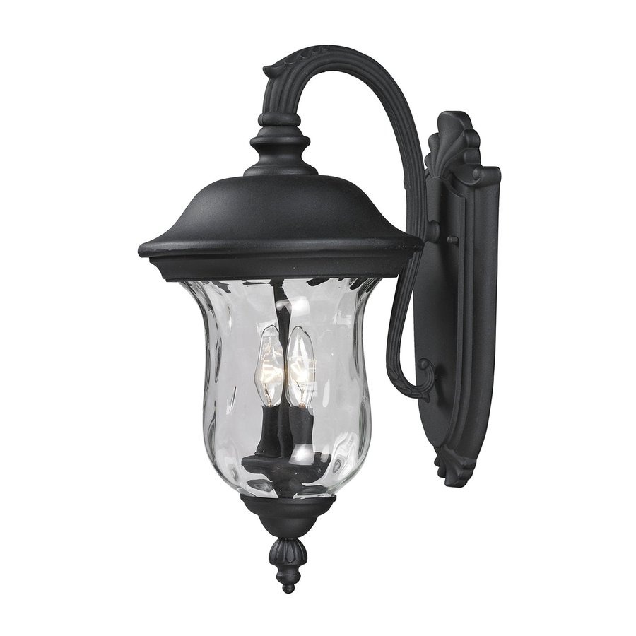 Z-Lite Armstrong 19.5-in H Black Outdoor Wall Light