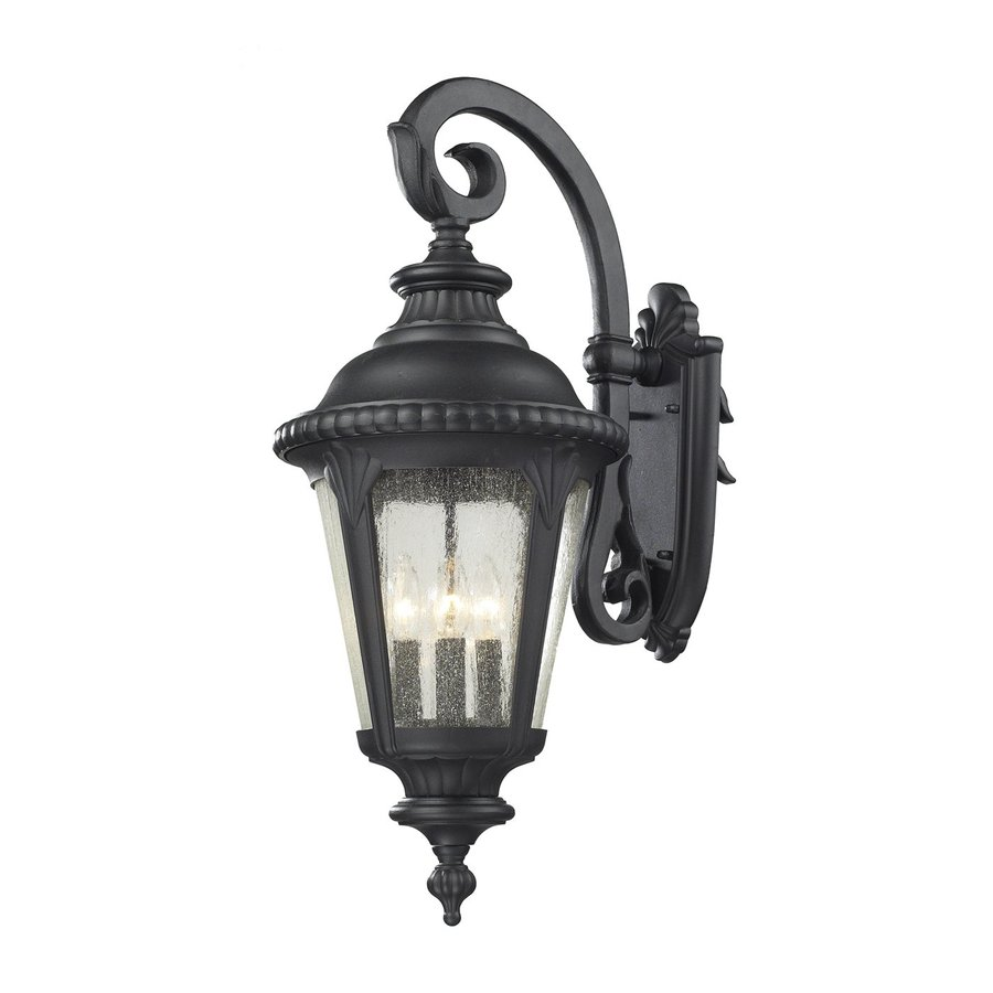 Z-Lite Medow 29-in H Sand Black Outdoor Wall Light