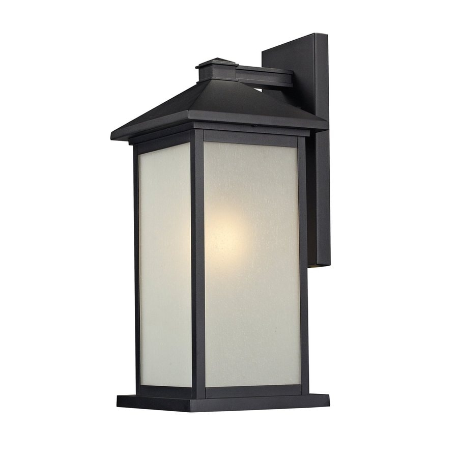 Z-Lite Vienna 22-in H Black Outdoor Wall Light
