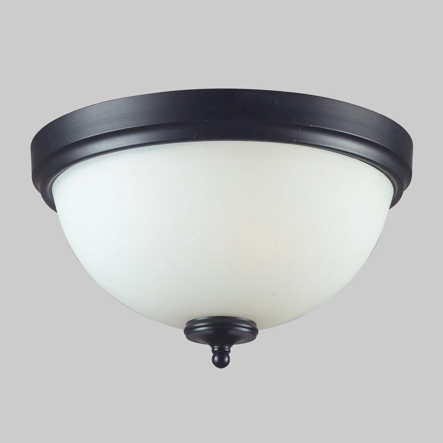 Z-Lite Harmony 15-in W Matte black Flush Mount Light