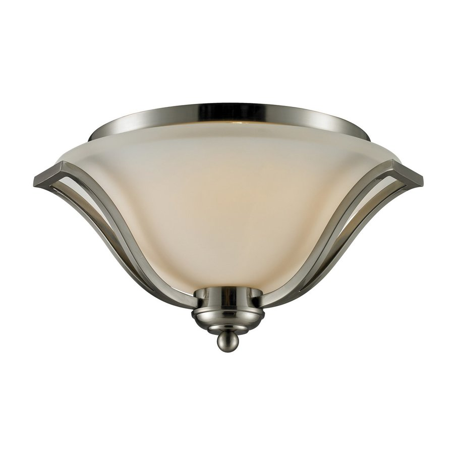Z-Lite Lagoon 18.5-in W Brushed Nickel Flush Mount Light