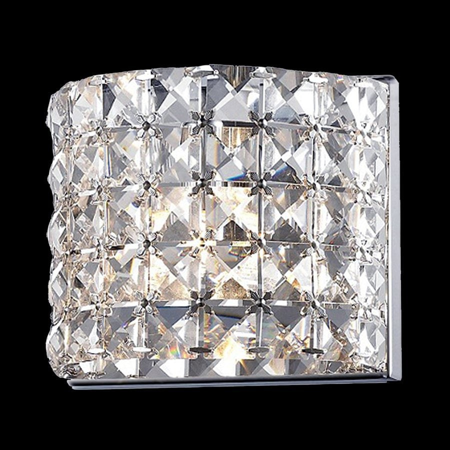 Z-Lite Panache 6.299-in W 1-Light Chrome/Crystal Crystal Hardwired Wall Sconce