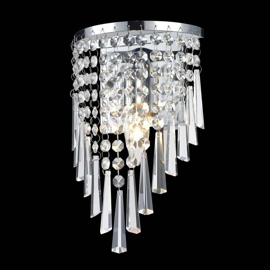 Z-Lite Tango 6.75-in W 1-Light Chrome/crystal Crystal Wall Sconce