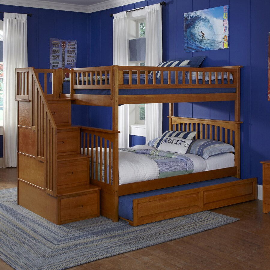 Atlantic Furniture Columbia Carmel Latte Full Over Full Bunk Bed