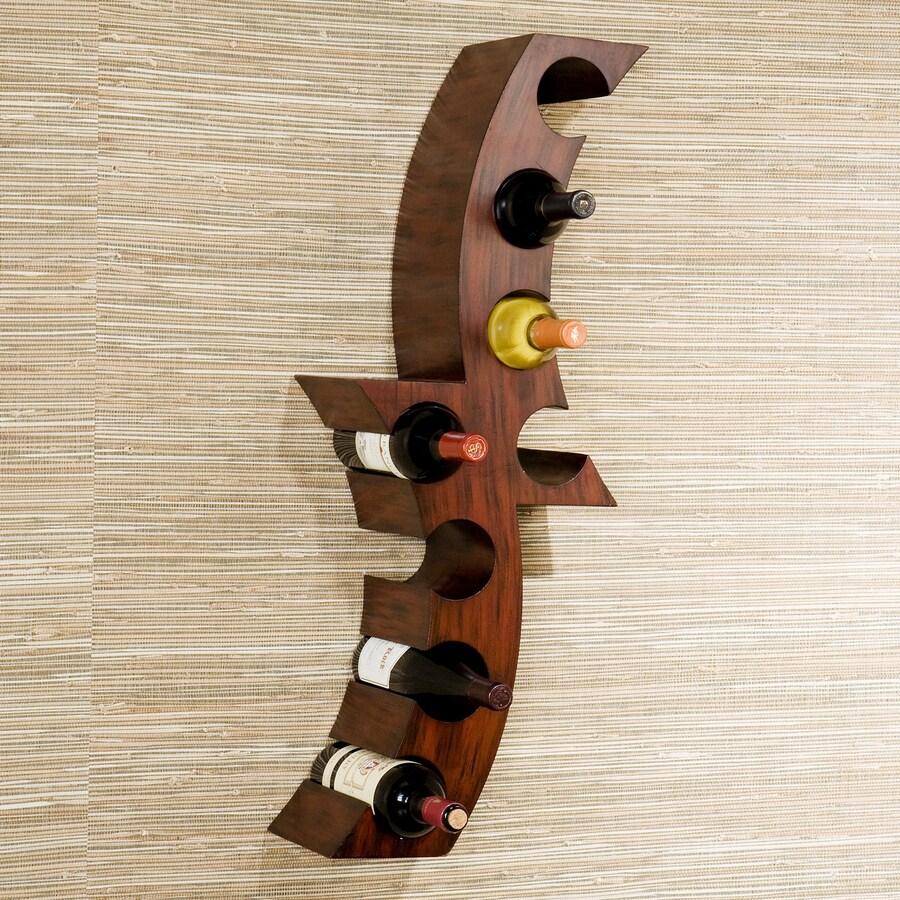 Boston Loft Furnishings Calabria 8-Bottle Rust Wall-Mount Wine Rack