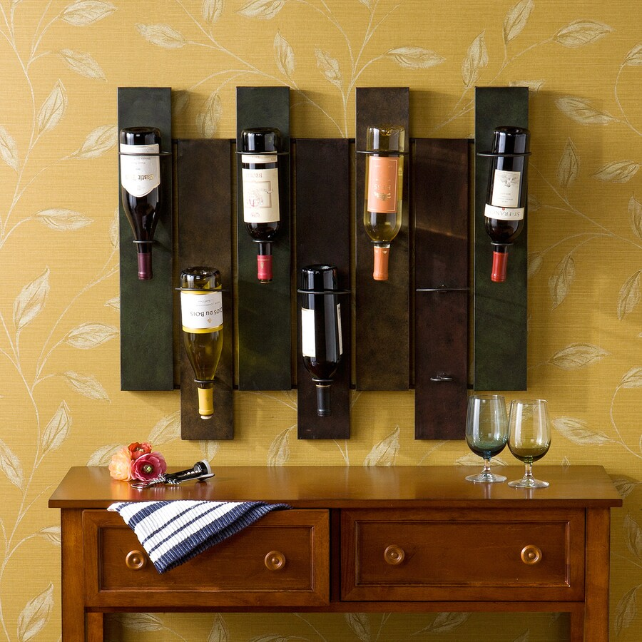 Boston Loft Furnishings Navarra 7-Bottle Wall-Mount Wine Rack