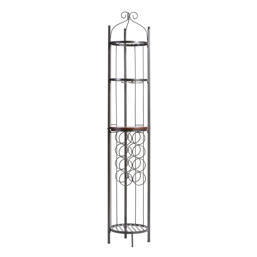 Boston Loft Furnishings Celtic 8-Bottle Gray Freestanding Floor Wine Rack