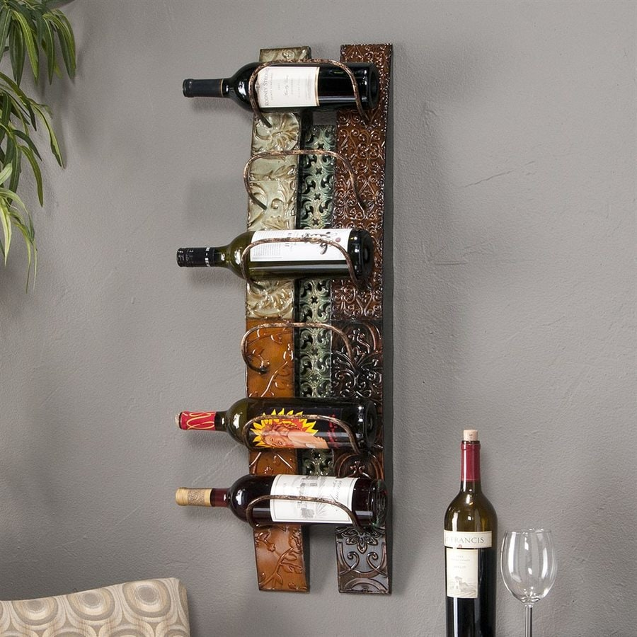 Boston Loft Furnishings Adriano 6-Bottle Wall-Mount Wine Rack