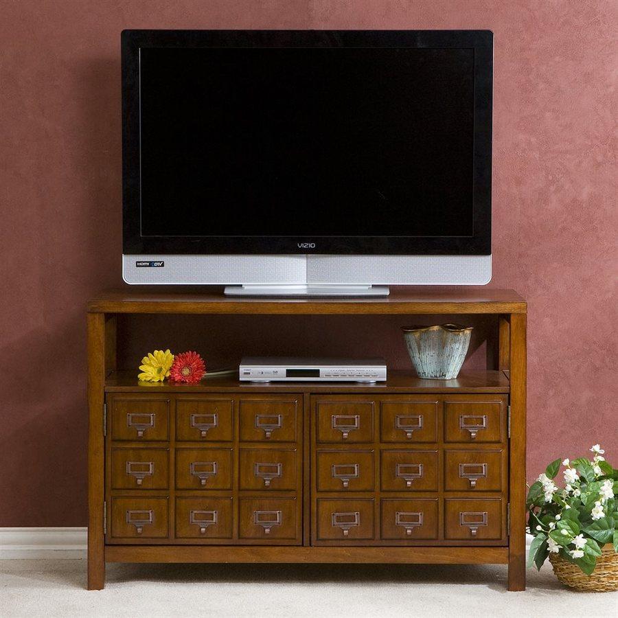 Boston Loft Furnishings Arcadia Brown Mahogany Rectangular TV Cabinet
