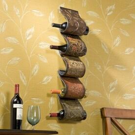 boston loft furnishings florenz 5bottle wallmount wine rack