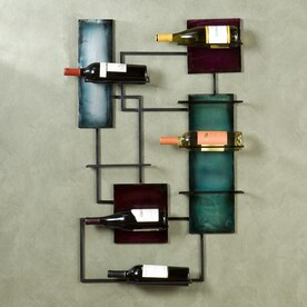 boston loft furnishings 8bottle black wallmount wine rack