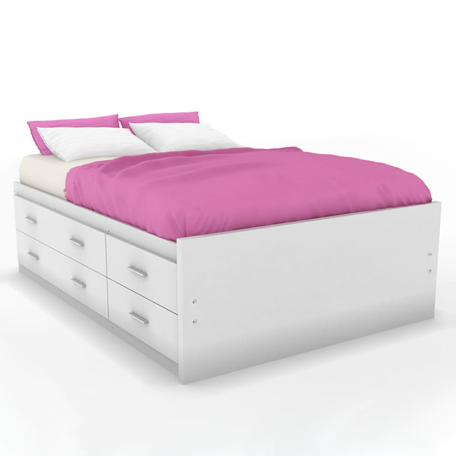 Sonax Willow Frost White Full Platform Bed With Storage At Lowes Com