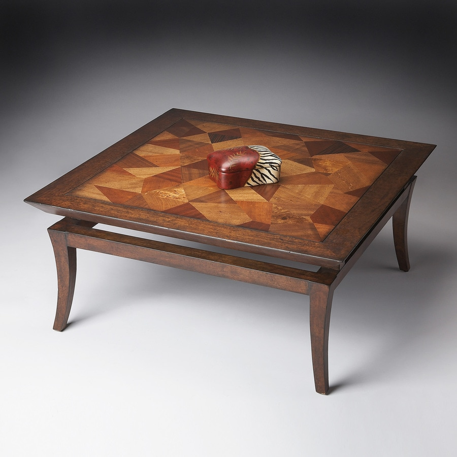 Butler Specialty Butler Loft Wood Inlay Pattern Square Coffee Table