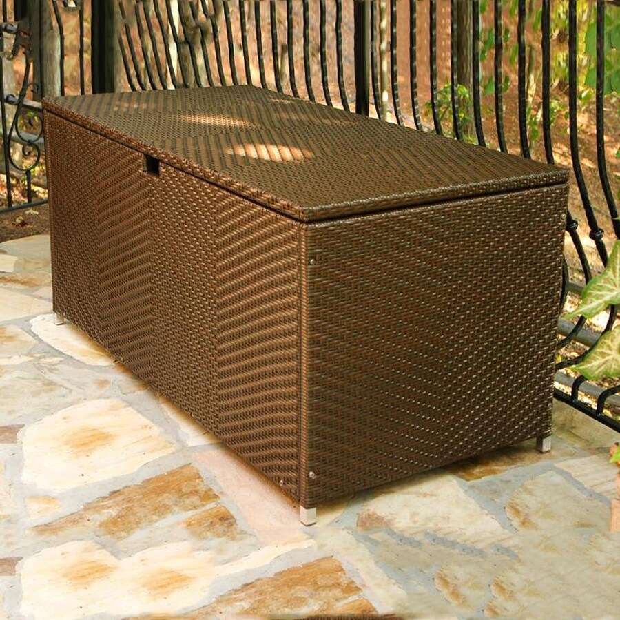 Tortuga Outdoor 63-in L x 30-in W All-Weather Wicker Deck Box