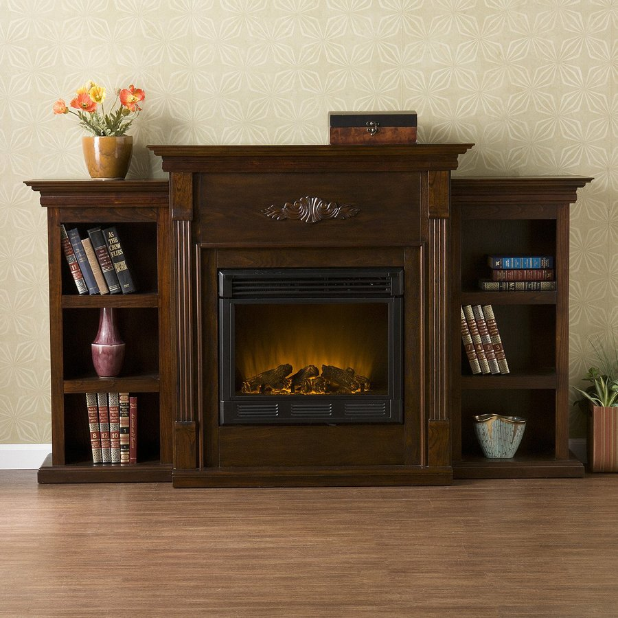 Boston Loft Furnishings 70-in W Espresso Wood Electric Fireplace with  Thermostat and Remote Control - Shop Boston Loft Furnishings 70-in W Espresso Wood Electric