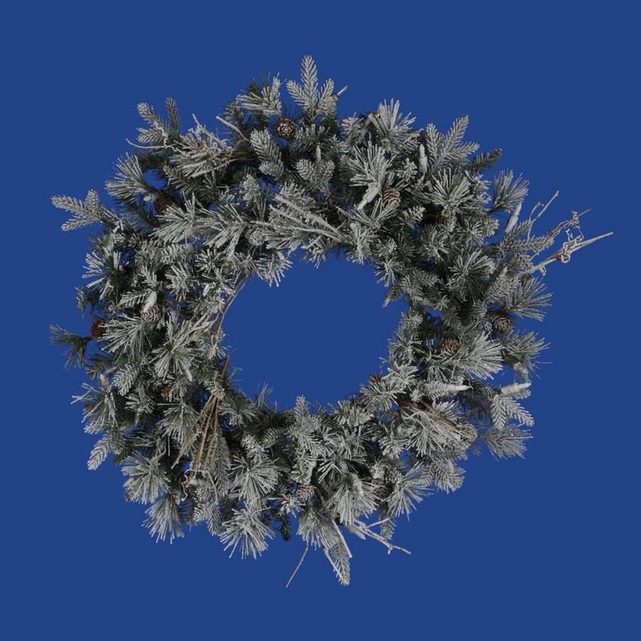 Vickerman 24-in Un-Lit Green Whistler Fir Artificial Christmas Wreath