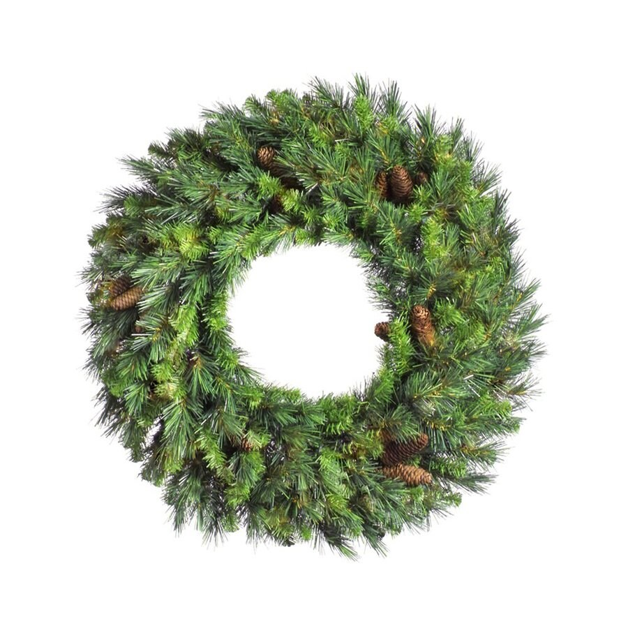 Vickerman 42-in Un-Lit Green Pine Artificial Christmas Wreath
