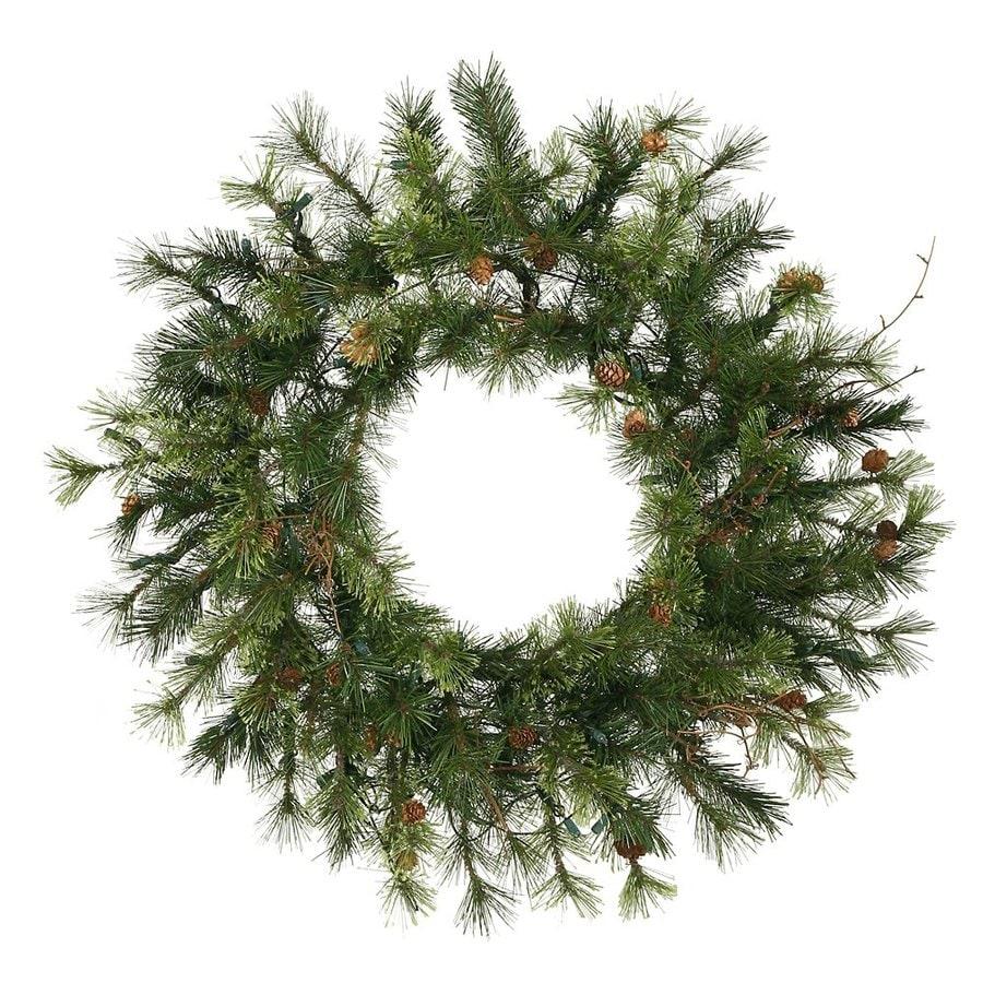Vickerman 30-in Indoor/Outdoor Pine Artificial Christmas Wreath