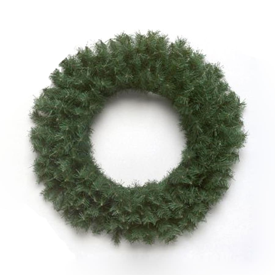 Vickerman 24-in Un-Lit Indoor/Outdoor Green Canadian Pine Artificial Christmas Wreath
