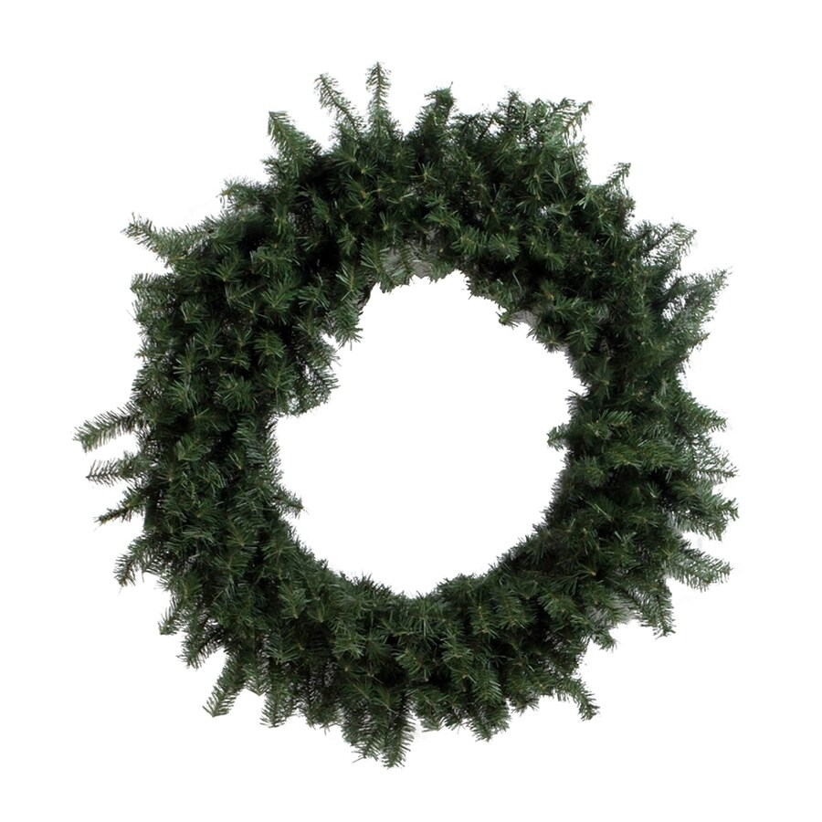 Vickerman 48-in Un-Lit Indoor/Outdoor Green Canadian Pine Artificial Christmas Wreath