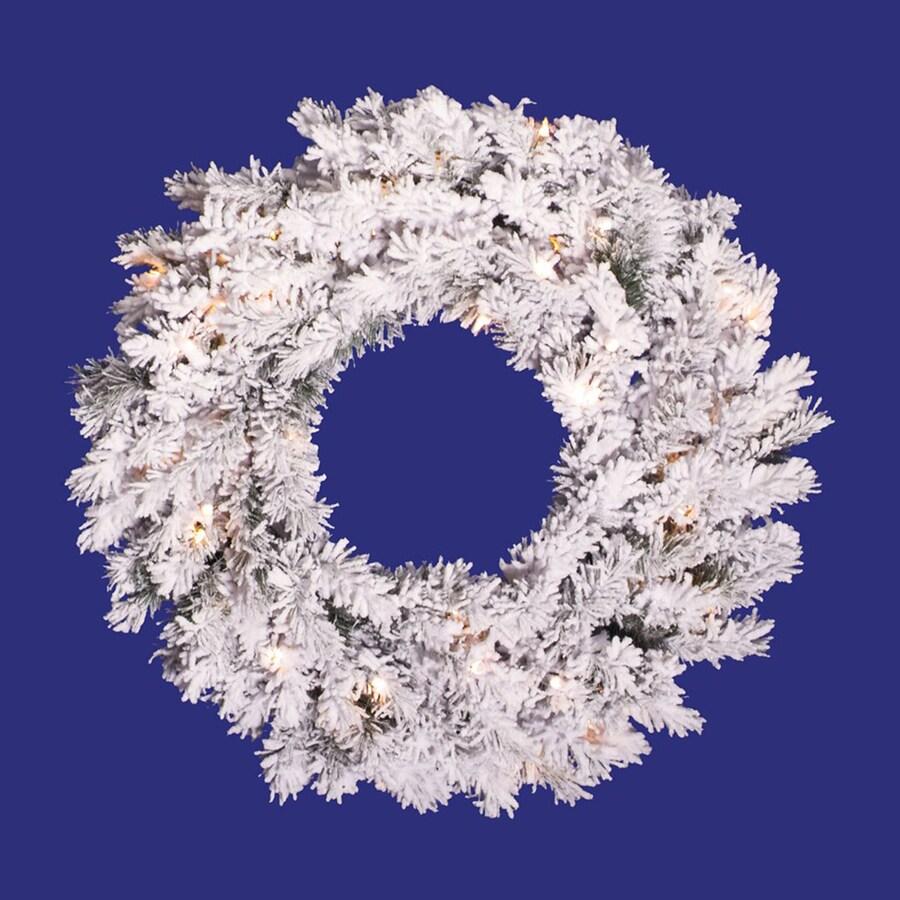 Vickerman 20-in Un-Lit Indoor/Outdoor White Pine Artificial Christmas Wreath