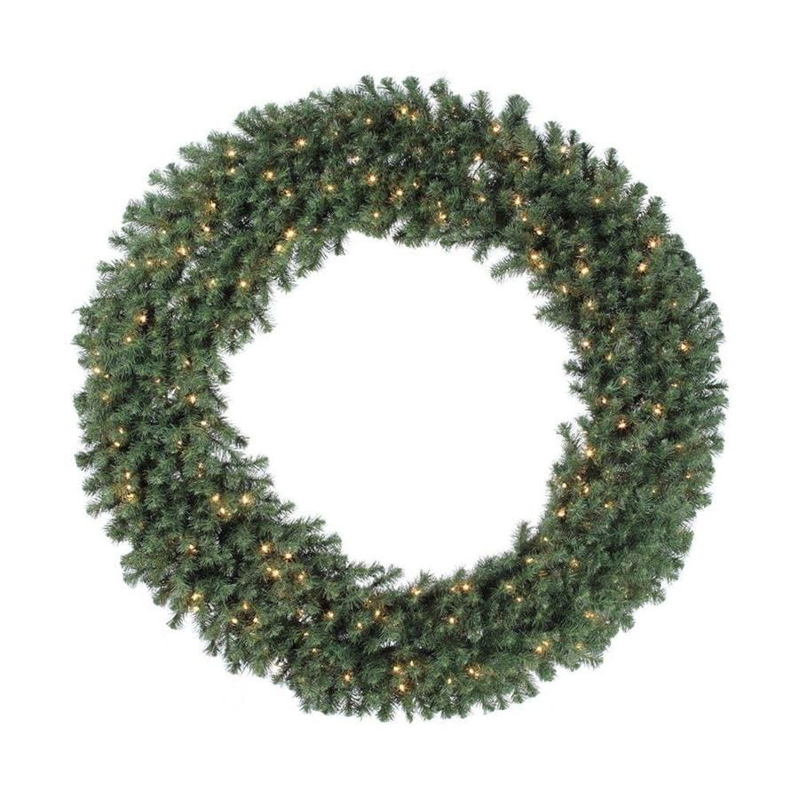 Vickerman Pre-Lit 84-in Douglas Fir Artificial Christmas Wreath with 400-Count Incandescent Lights