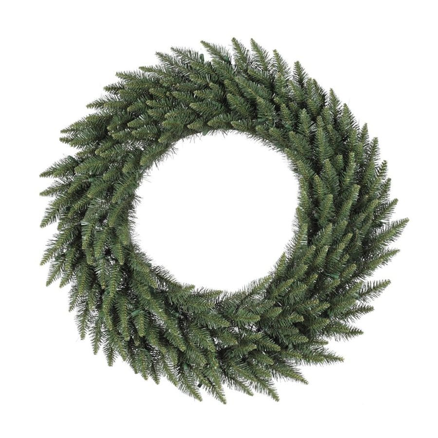 Vickerman 72-in Un-Lit Green Camden Fir Artificial Christmas Wreath